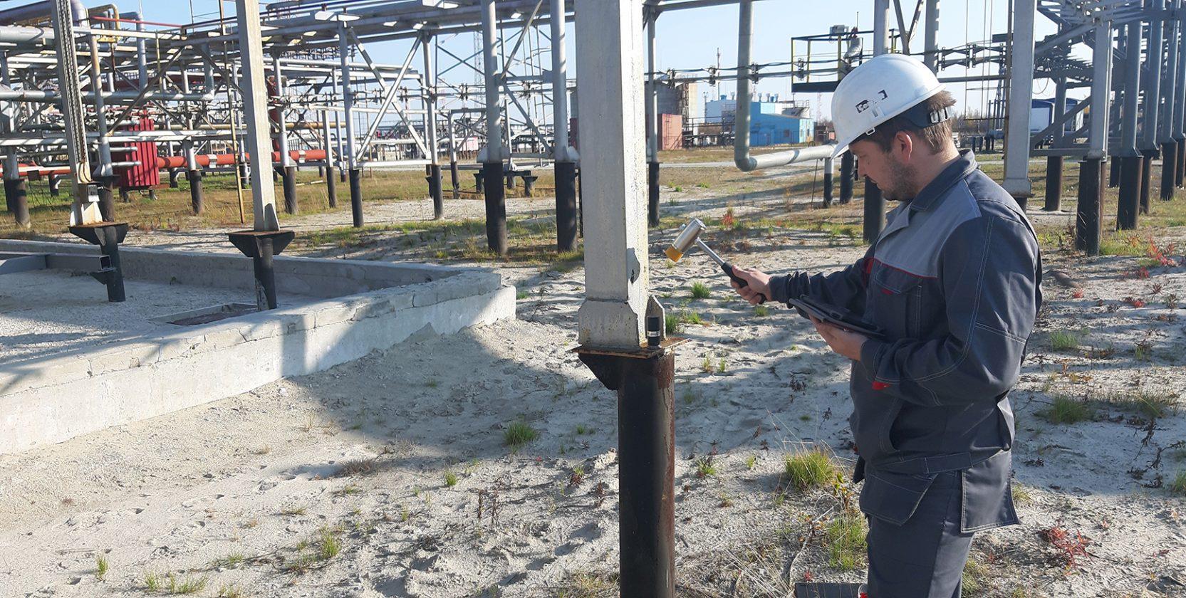 Обследование строительных конструкций на территории газового промысла