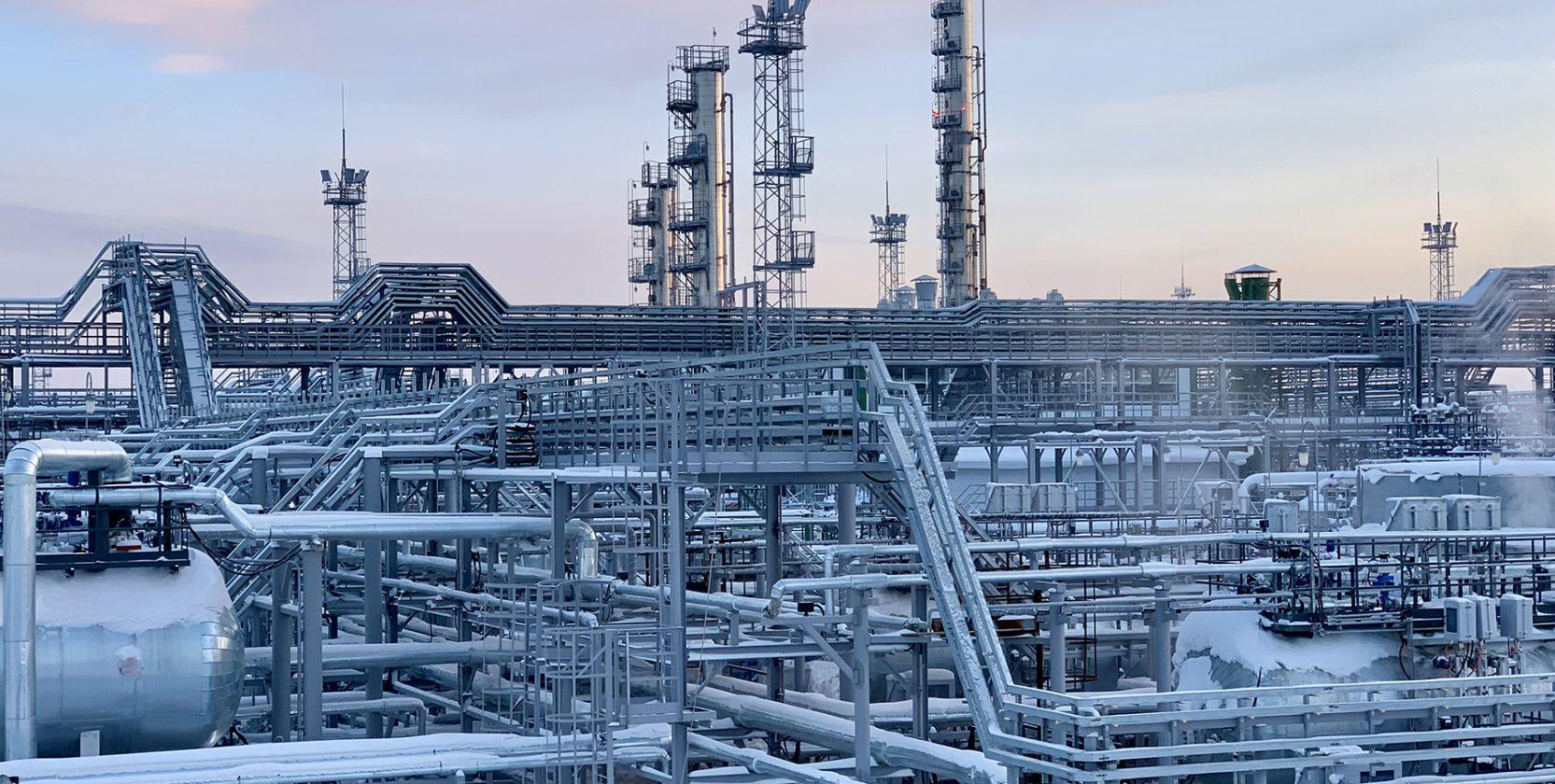 обследование строительных конструкций сооружений на территории газового промысла