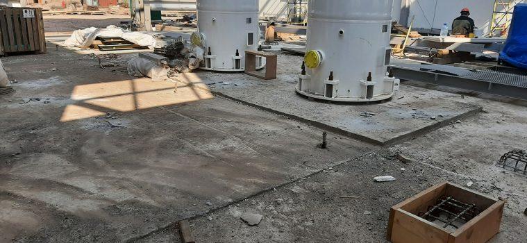 Обследование фундаментов на территории газового промысла